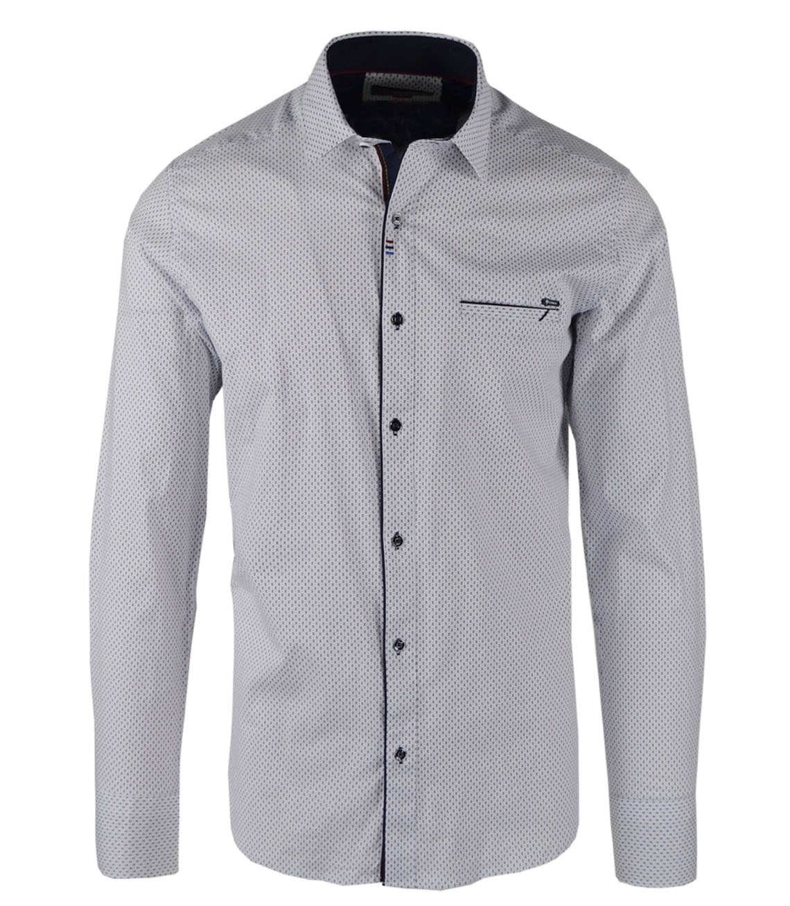 Agrafka Elegancka koszula męska Bawełna SLIM FIT BIAŁY  CX782